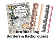 JustRite Background & Border Stamps - Cling