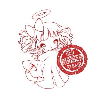 SWEET ANGEL Rubber Stamp from Make It Crafty