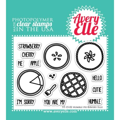 HUMBLE PIE Clear Stamp Set from Avery Elle