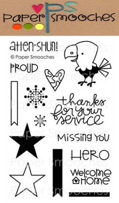 CIRCLE OF HONOR Clear Stamp Set from Paper Smooches