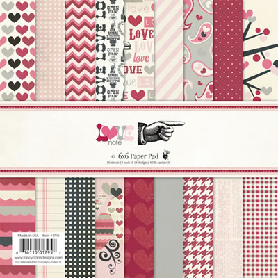 LOVE NOTE 6x6 Paper Pack from Fancy Pants Designs