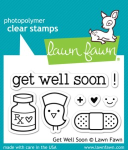 GET WELL SOON Clear Stamp Set from Lawn Fawn