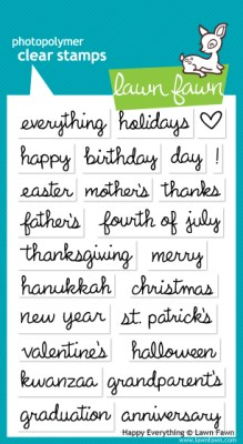 HAPPY EVERYTHING Clear Stamp Set from Lawn Fawn
