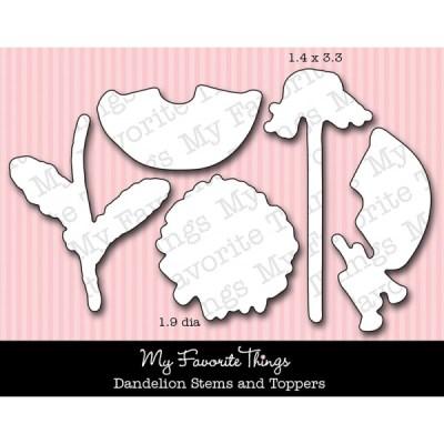DIE-NAMICS DANDELION STEMS AND TOPPERS DIE SET Mona Pendleton Designs from My Favorite Things MFT Stamps