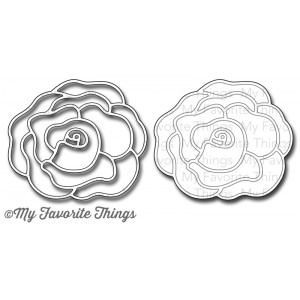 **PREORDER** New! DIE-NAMICS ROSE WITH OVERLAY DIE SET from My Favorite Things MFT Stamps