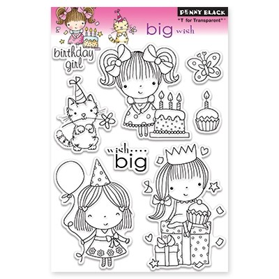 BIG WISH Clear Stamp Set from Penny Black