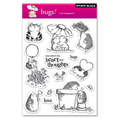 HUGS Clear Stamp Set from Penny Black