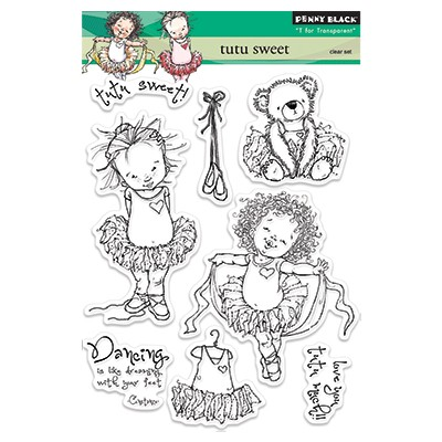 TUTU SWEET Clear Stamp Set Mo Manning Collection from Penny Black