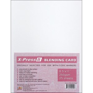 "X-PRESS IT BLENDING CARD 25 Sheet Pack 8 1/2""x11"" from Copic"
