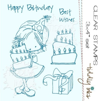 BIRTHDAY WISHES Clear Stamp Set from Tiddly Inks