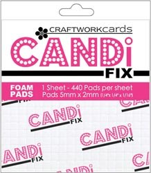 CANDI FIX FOAM PADS Package of 440 from Craftwork Cards