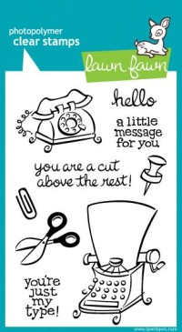JUST MY TYPE Clear Stamp Set from Lawn Fawn