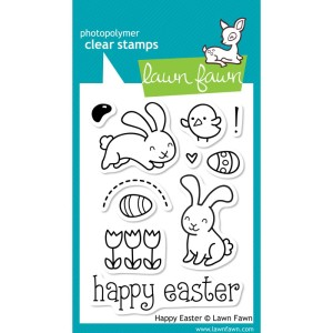 HAPPY EASTER Clear Stamp Set from Lawn Fawn