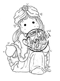 TILDA AS WISEMAN Rubber Stamp Nativity Collection from Magnolia