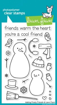 MAKING FROSTY FRIENDS Clear Stamp Set from Lawn Fawn