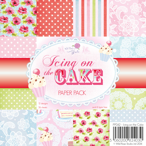 ICING ON THE CAKE 6x6 Scrapbook Patterned Paper Pack from Wild Rose Studio