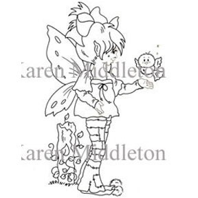 FAIRIE FRIENDS Rubber Stamp Karen Middleton Collection from Sweet Pea Stamps