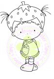 STRAWBERRY BEATRICE Rubber Stamp Beatrice Collection from C.C. Designs