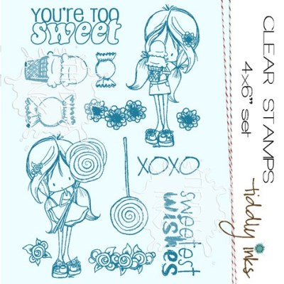 SWEETS FOR MY SWEET Clear Stamp Set from Tiddly Inks