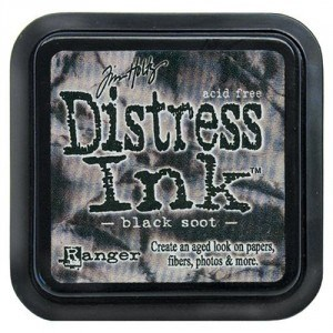Tim Holtz Distress Ink Pad BLACK SOOT from Ranger