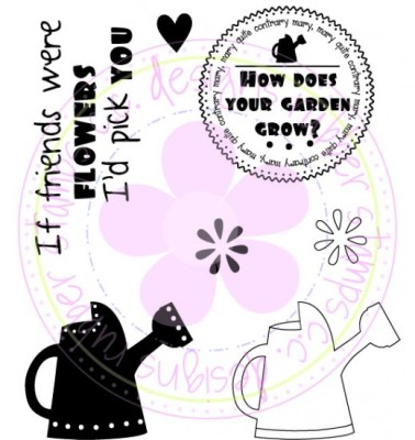 WATERING CAN LOGO'S Rubber Stamp Set from C.C. Designs