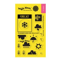 WEATHER 1 Clear Stamp Set from Waffle Flower Crafts