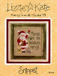 MERRY FRIENDS SANTA 2003 Cross Stitch Pattern from Lizzie Kate