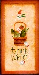 THINK WINTER Cross Stitch Pattern from Lizzie Kate