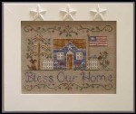 BLESS OUR HOME Cross Stitch Pattern by Country Cottage Needleworks
