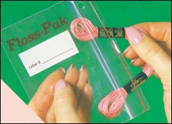 "FLOSS-PAK BAGS - Package of 100 Reclosable Bags 3"" x 5"" from Yarn Tree"