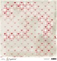 STITCHED HEARTS 12x12 Scrapbook Paper A Christmas Story Collection from Magnolia