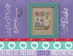 Celebrate With Charm Flip It - BASKET Easter Cross Stitch Pattern from Lizzie Kate