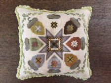 AUTUMN ACORNS Counted Cross Stitch Pattern from The Blue Flower