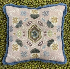 WINTER ACORNS Counted Cross Stitch Pattern from The Blue Flower