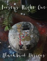 FROSTY'S NIGHT OUT Counted Cross Stitch Pattern from Blackbird Designs