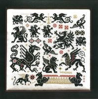 GRIFFINS OF THE KINGDOM Counted Cross Stitch Pattern from Rosewood Manor