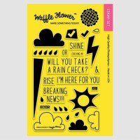 RAIN CHECK Clear Stamp Set from Waffle Flower Crafts