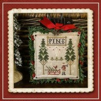 Jack Frost's Tree Farm Series - FRESH PINES Part 6 - Cross Stitch Chart from Little House Needleworks
