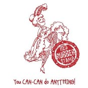 CAN CAN DANCER Rubber Stamp from Make It Crafty
