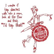 TAP DANCER Rubber Stamp from Make It Crafty