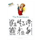 THE ENTERTAINERS COLLECTION Rubber Stamp Set from Make It Crafty