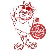 AUSSIE SANTA With Sentiment Rubber Stamp from Make It Crafty