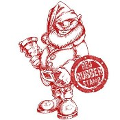 CHEEKY SANTA With Sentiment Rubber Stamp from Make It Crafty