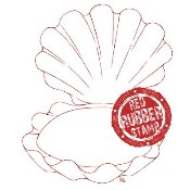 CLAM SHELL Rubber Stamp from Make It Crafty