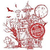 HAUNTED HOUSE Rubber Stamp from Make It Crafty