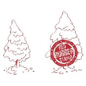 PINE TREES Rubber Stamp from Make It Crafty