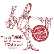 THE MAGICIAN Rubber Stamp from Make It Crafty