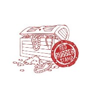 TREASURE CHEST Rubber Stamp from Make It Crafty