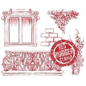 WINDOW WALL ELEMENTS Rubber Stamp from Make It Crafty