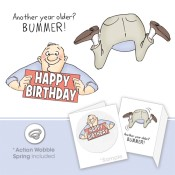 BUMMER SET Cling Rubber Stamp Set Shake Your Booty Collection from Art Impressions
